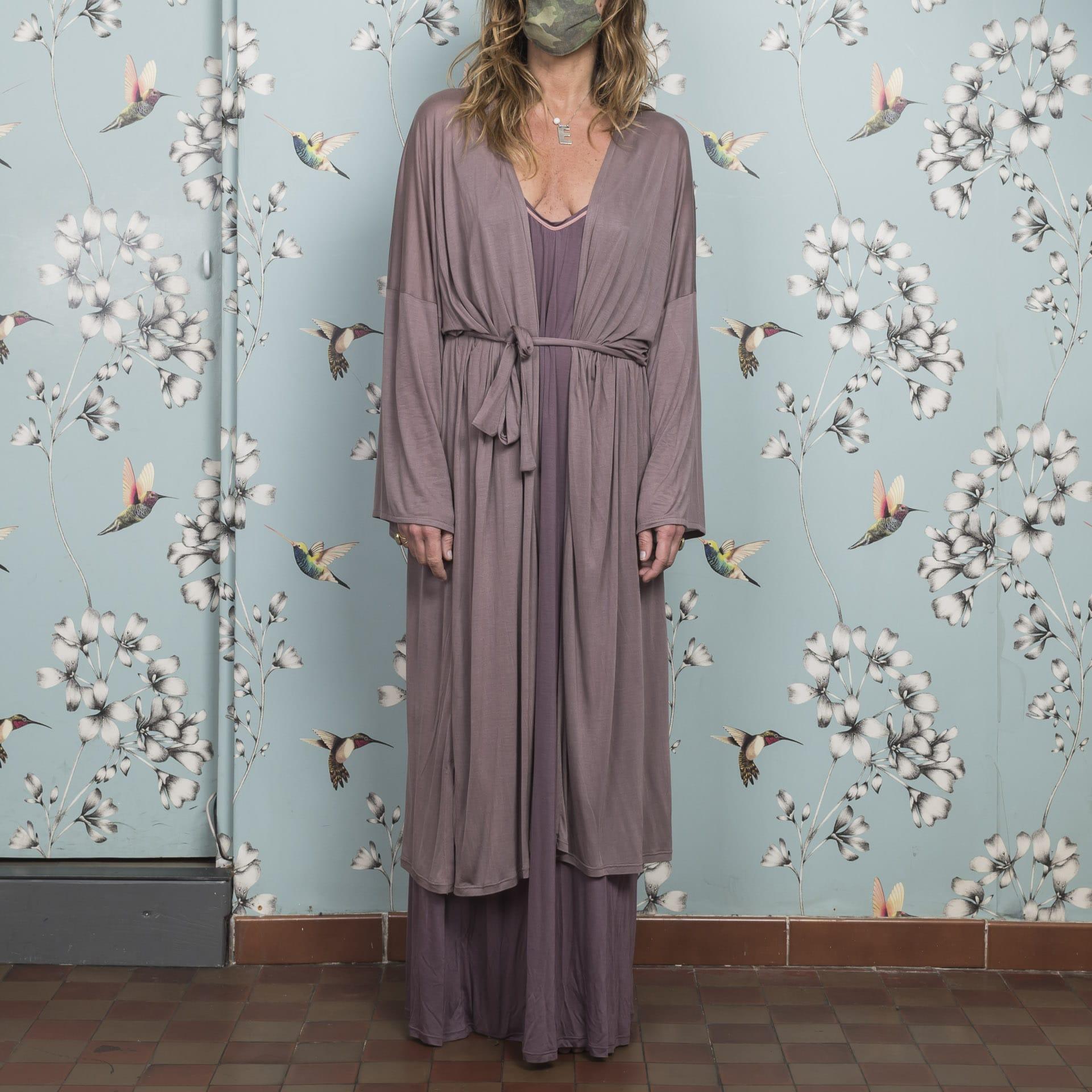 Alisa Kimono castagno