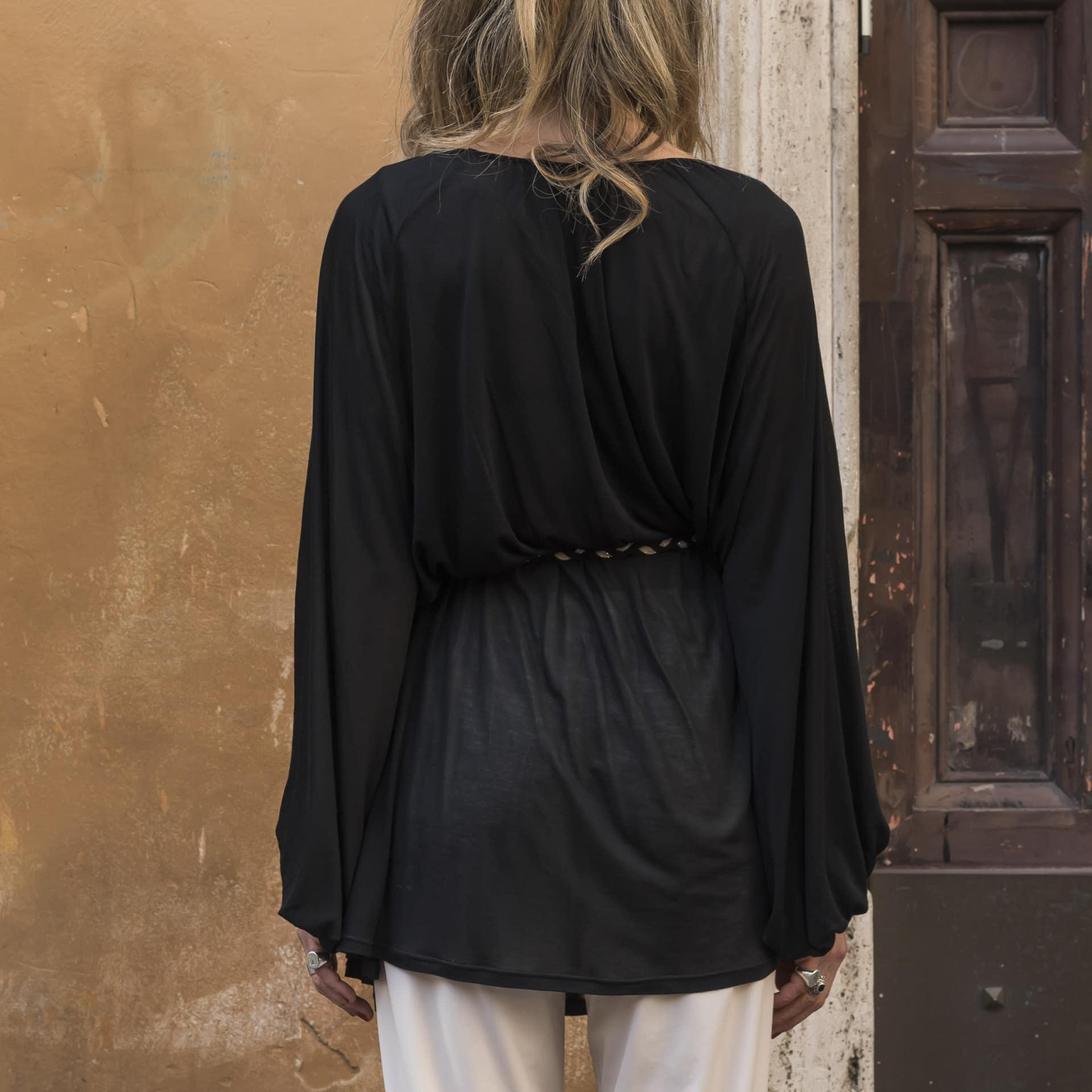 Alisa blusa ampia con cintura (4)
