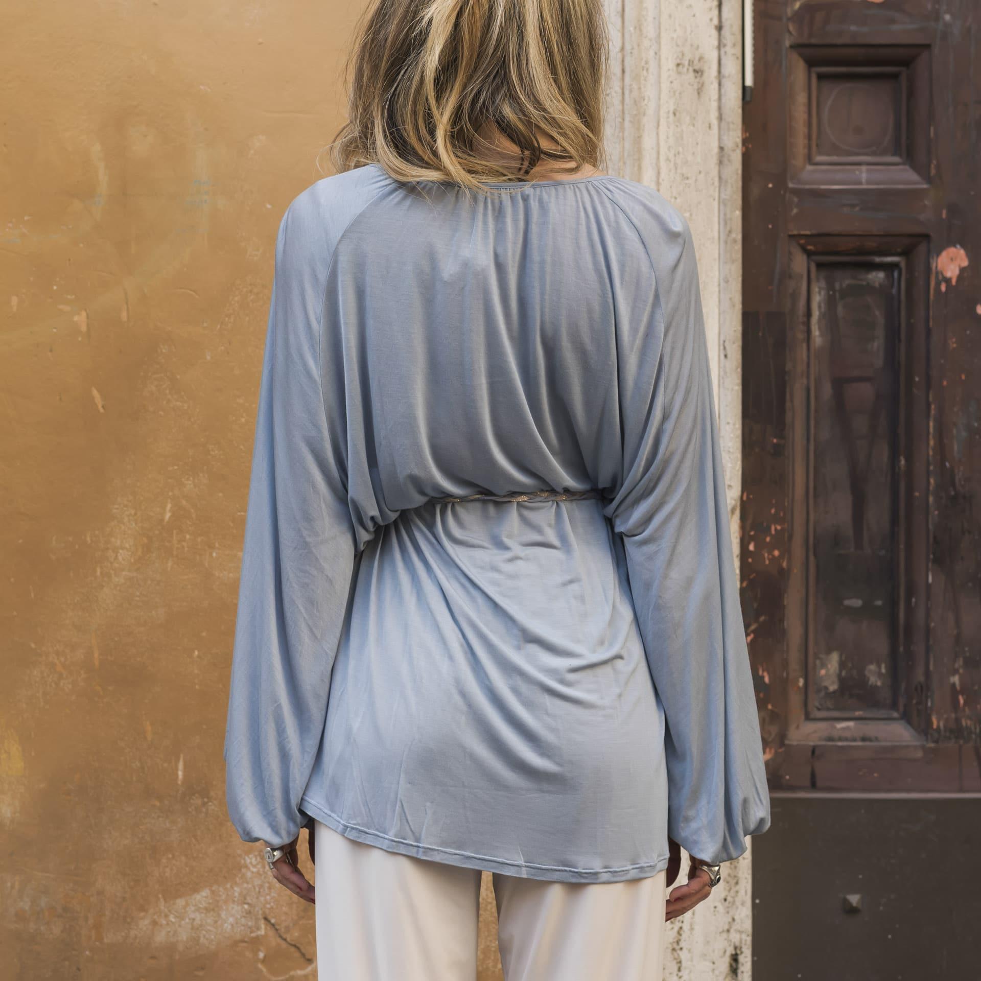 Alisa blusa ampia con cintura (7)