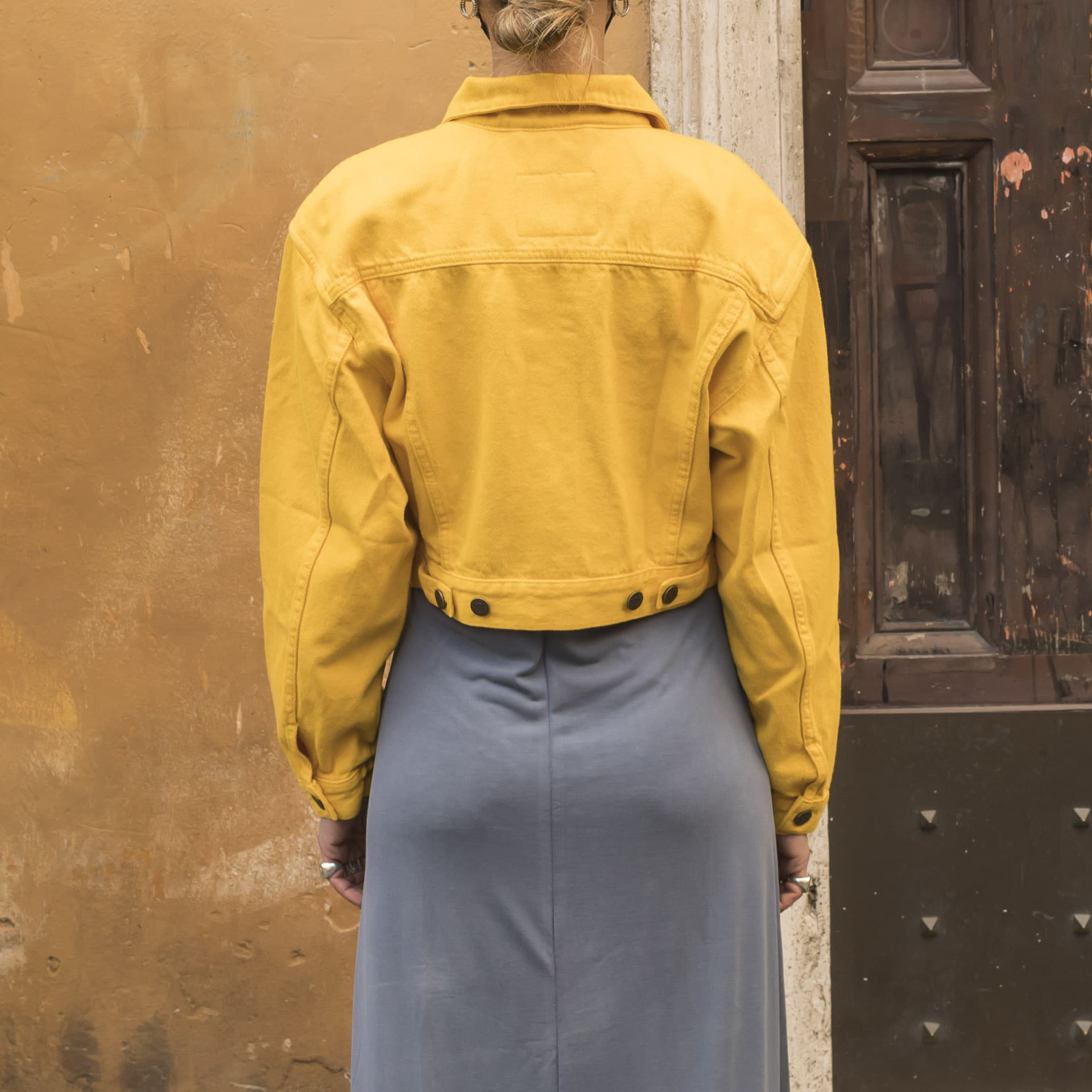 America Vintage giacca jeans crop mango (1)