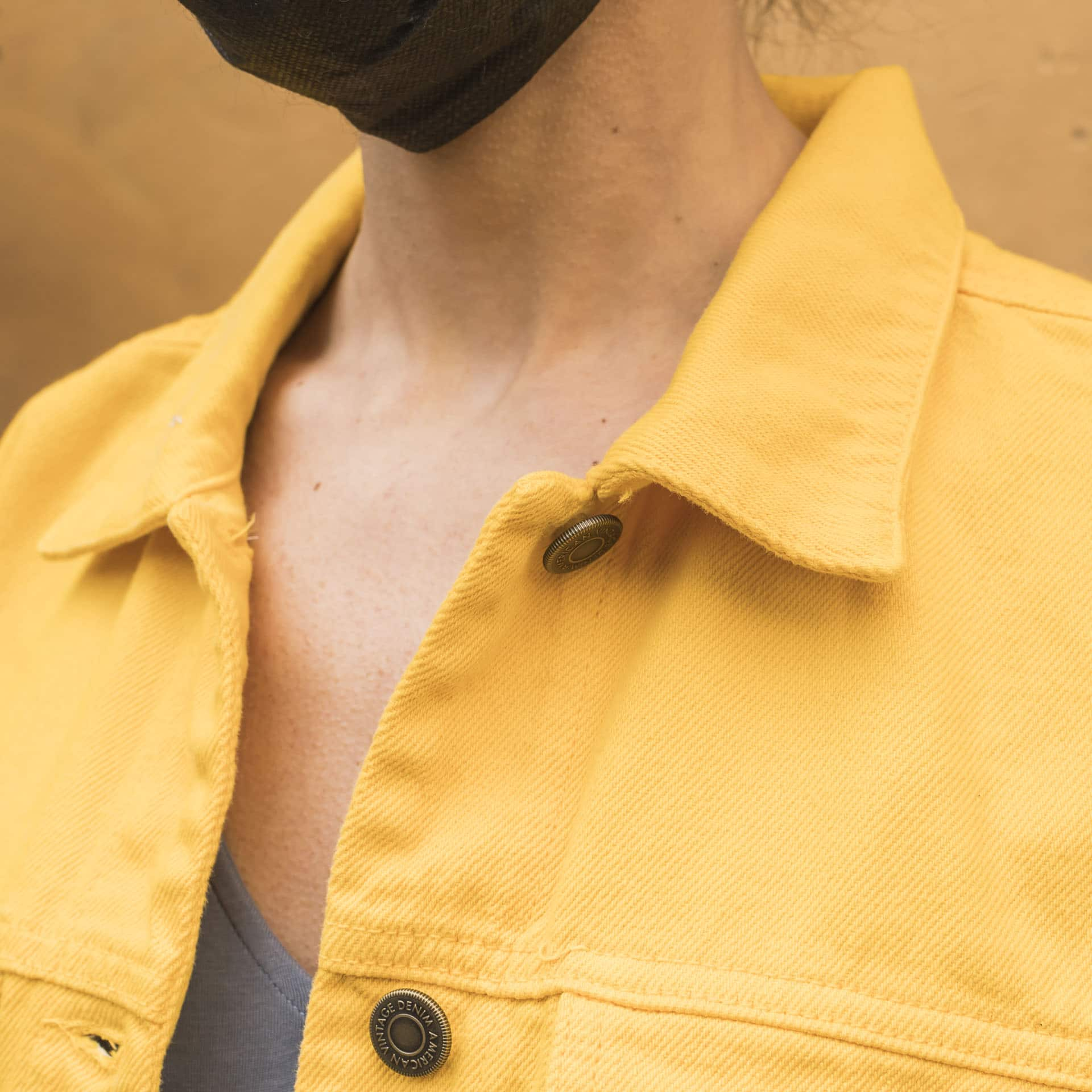 America Vintage giacca jeans crop mango (2)