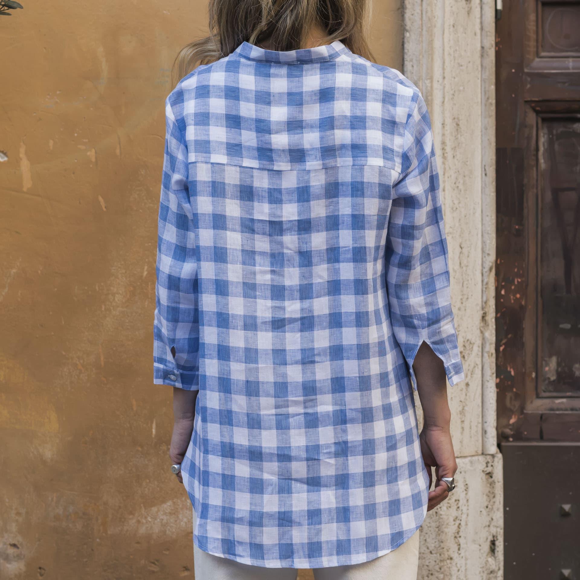 Hang On camicia quadri lino (1)