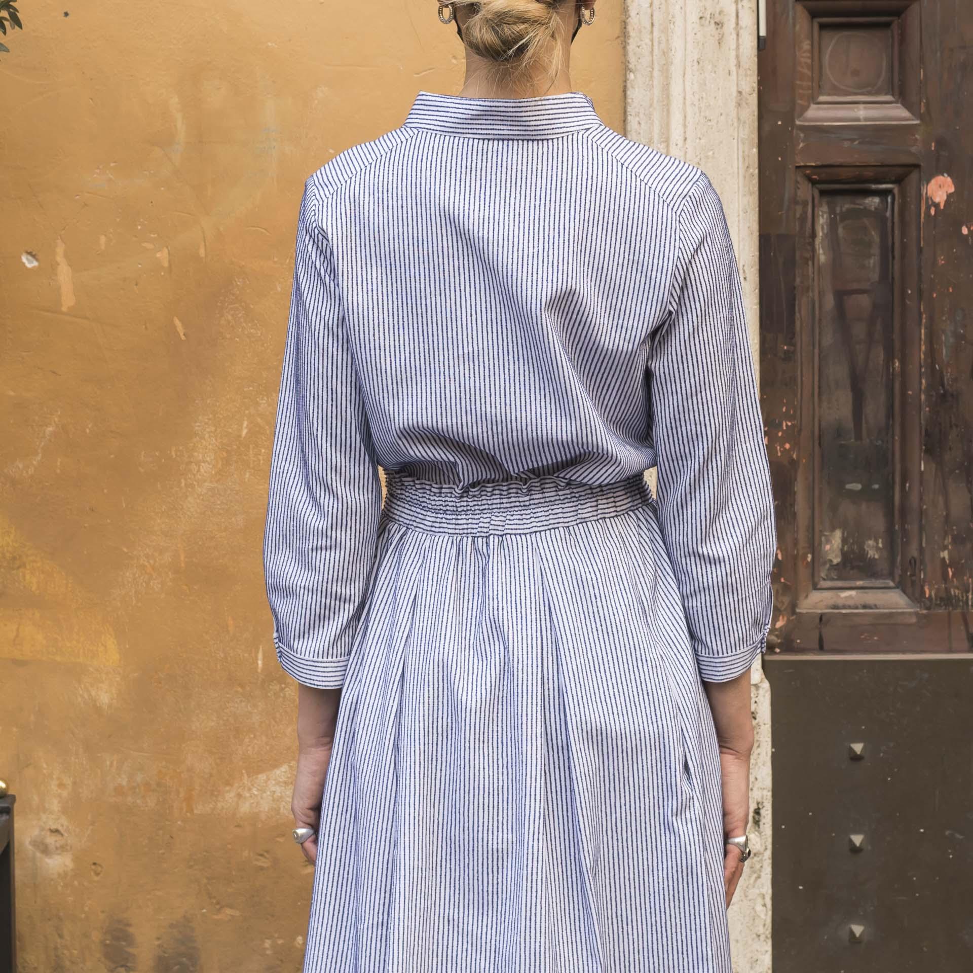 Hang On camicia slim fit twill cotone righe (1)