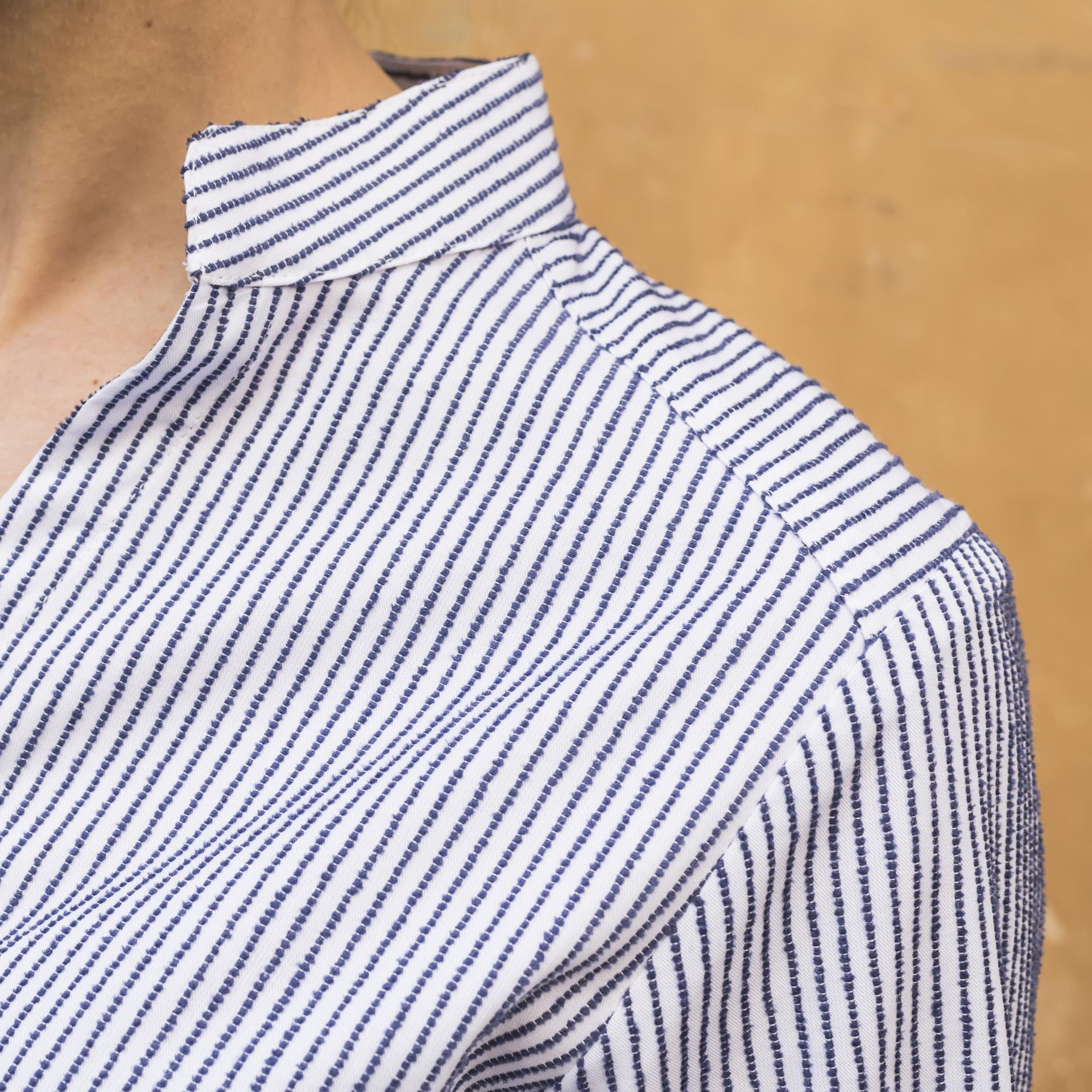 Hang On camicia slim fit twill cotone righe (2)