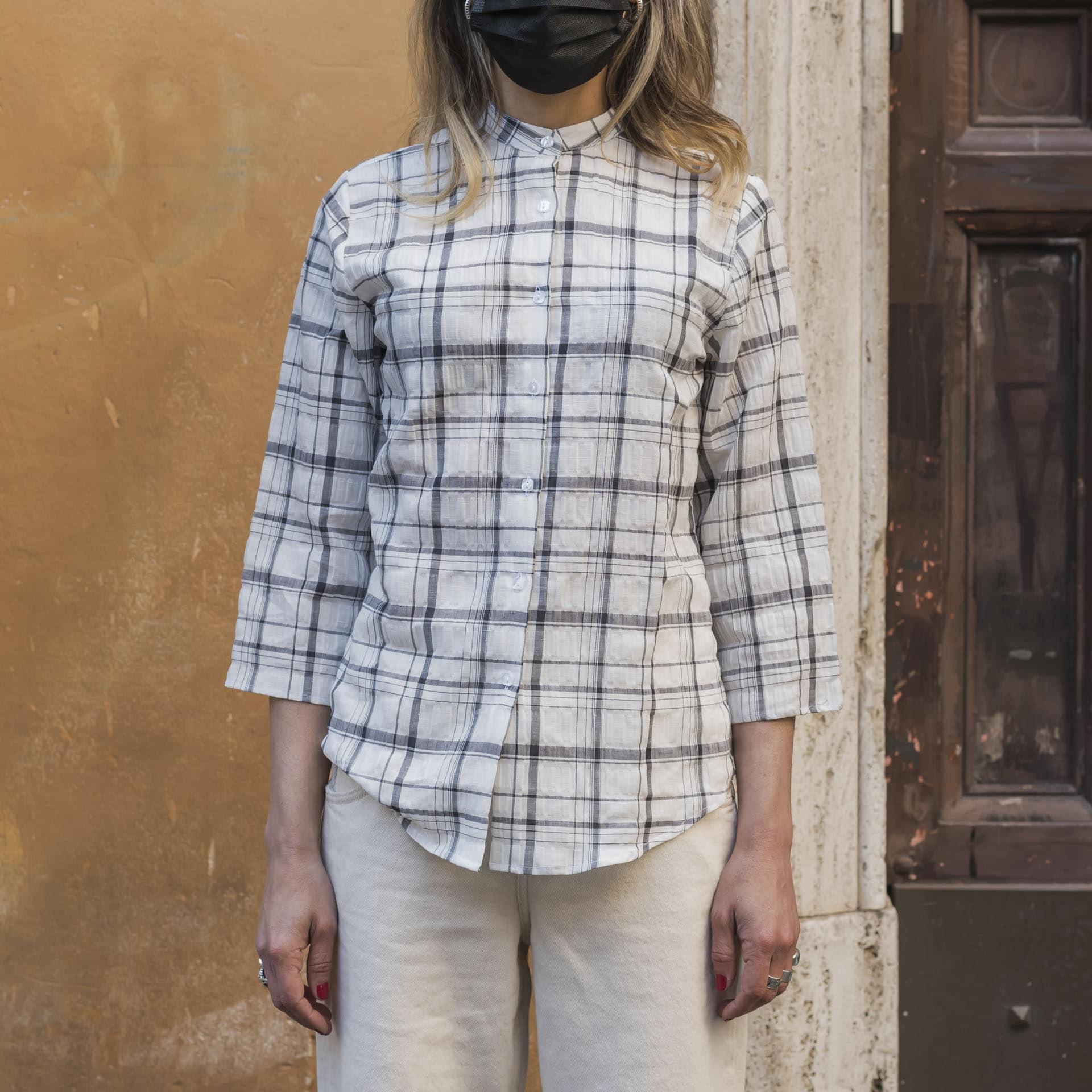 Hang On camicia quadri cotone