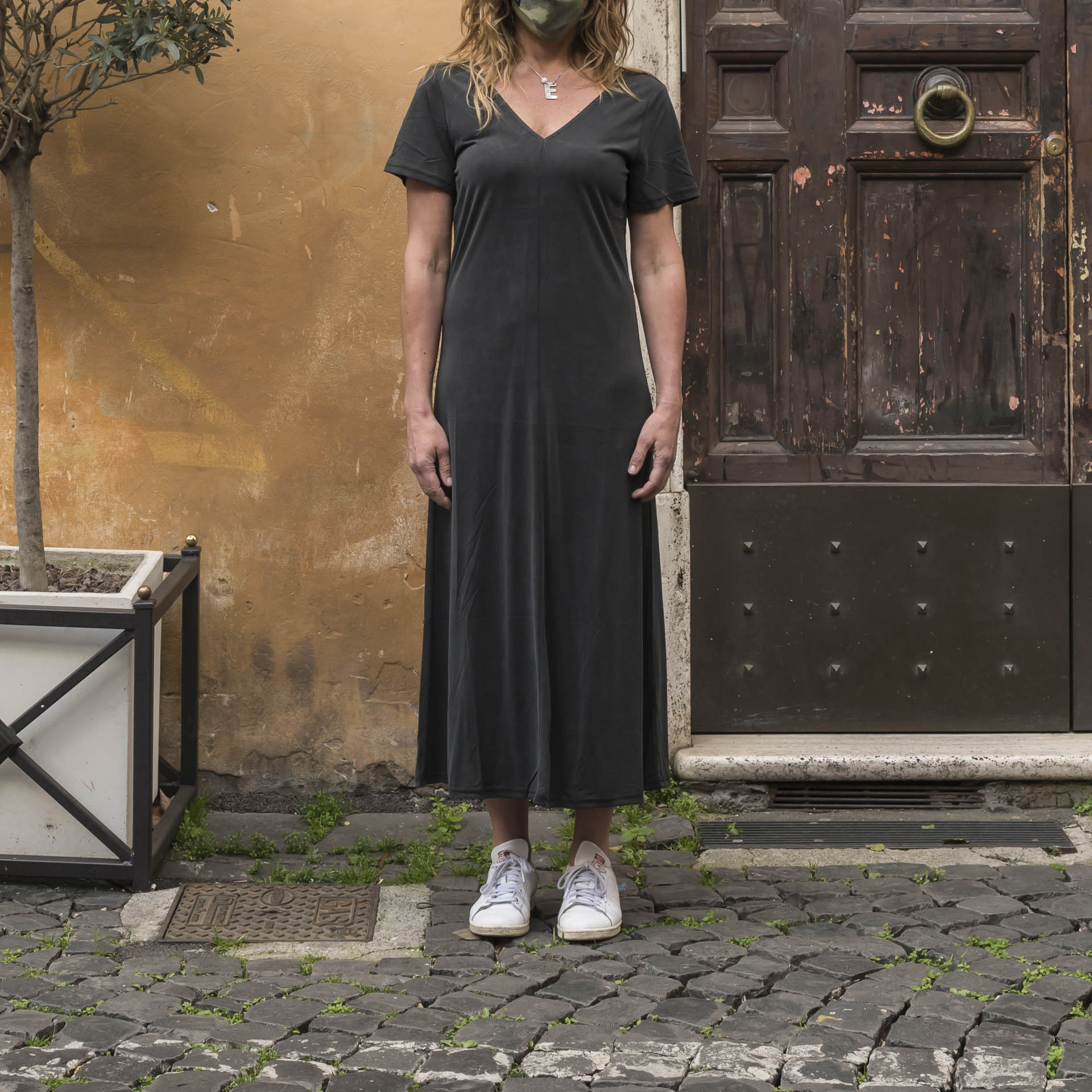 Minimum abito lungo tencel